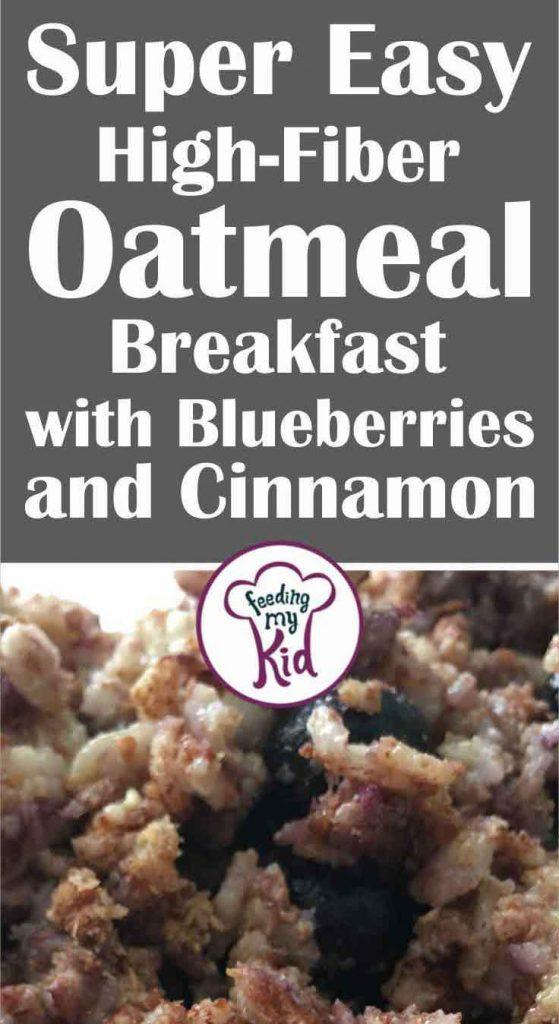 This blueberry oatmeal recipe is so easy to make. It's loaded with fiber, antioxidants, complex carbs, bananas, blueberries, and cinnamon.