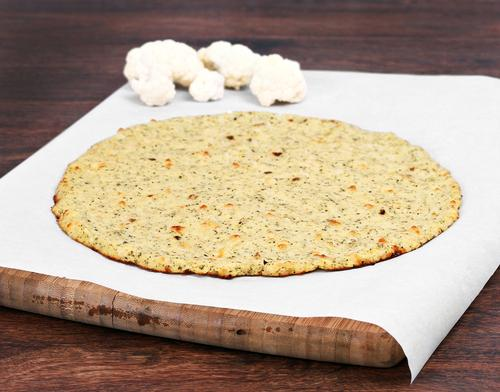 Cauliflower pizza crust is a gluten-free and low-carb dinner option.