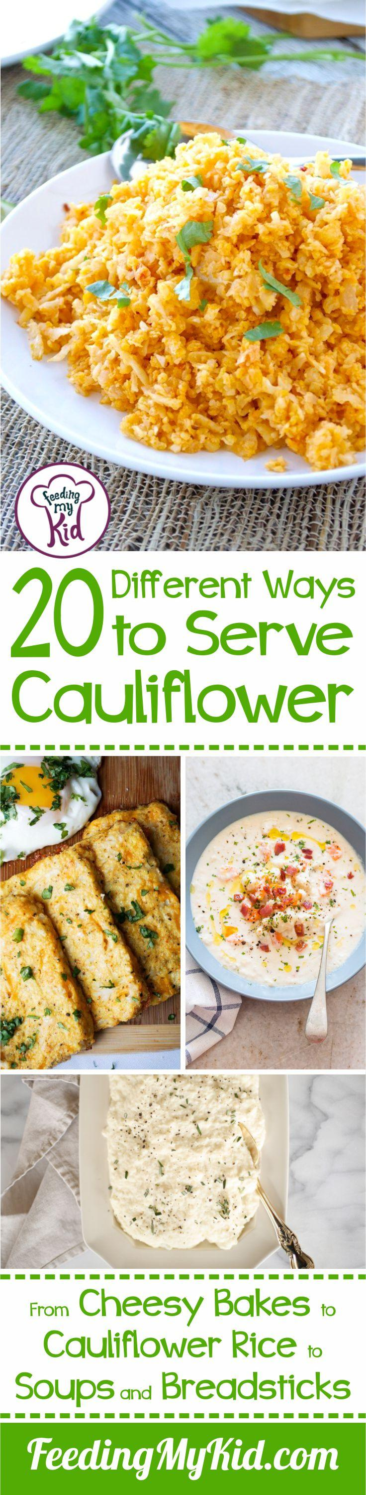There are so many different ways to serve cauliflower! You'll love the variety of these cauliflower recipes. Try one out tonight.