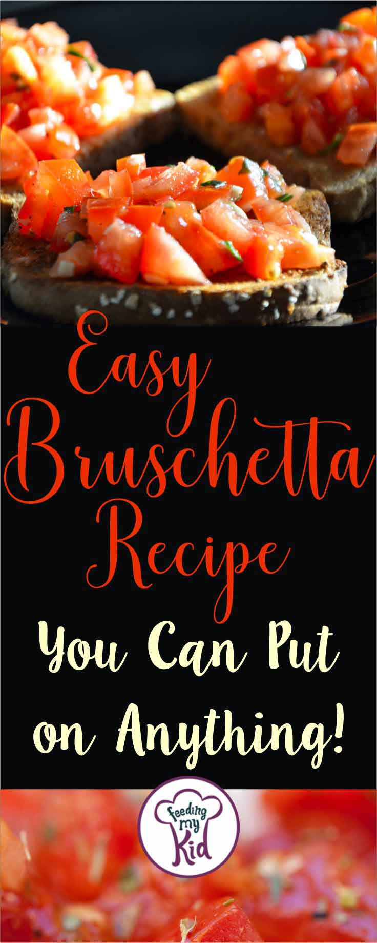 I love this version of classic bruschetta.This easy bruschetta recipe is not only delicious but versatile. No baking or cooking required!