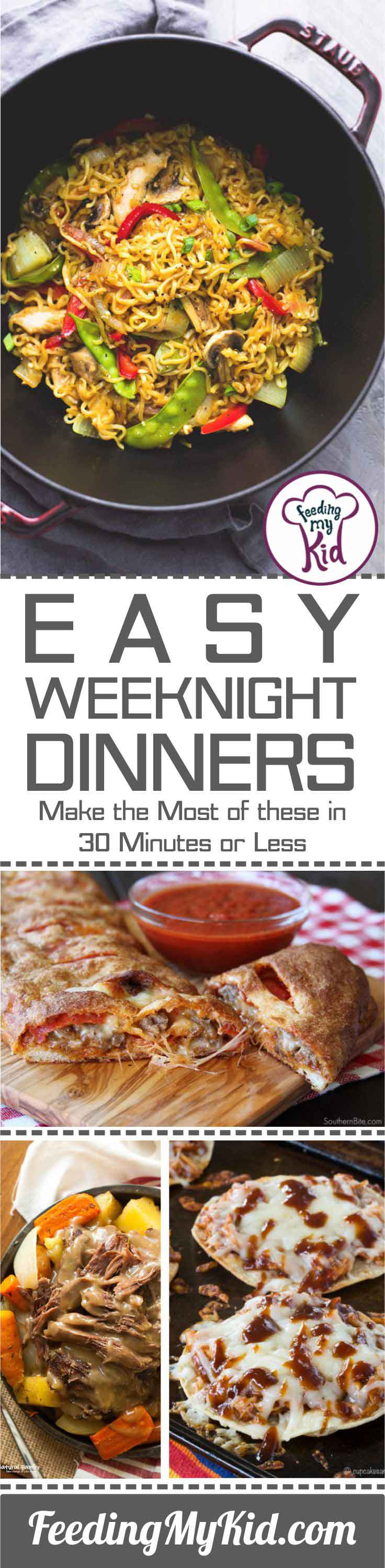 Weeknights can get hectic. Sometimes you just need a meal you can prepare super quick and without hassle. These easy meal ideas are for you!