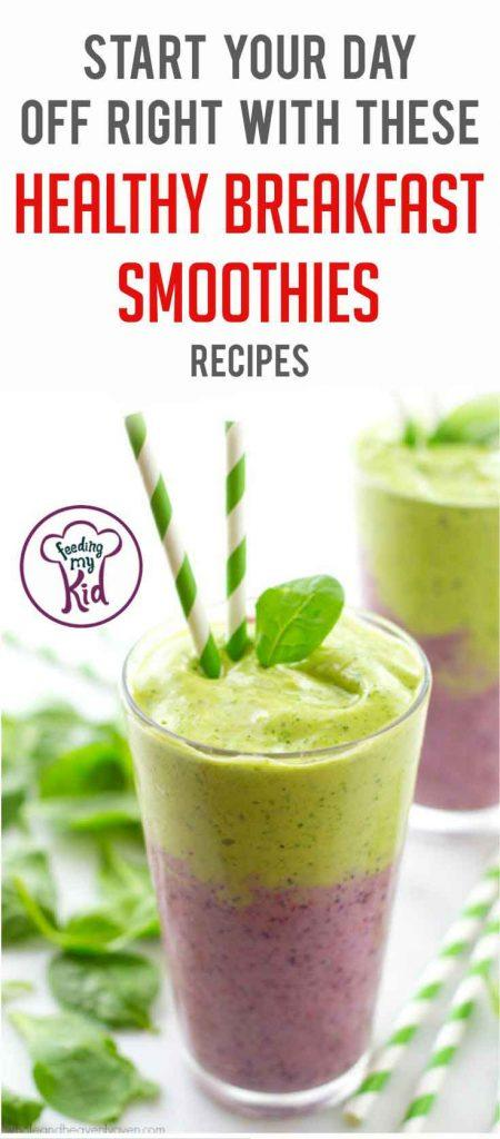 Try these healthy breakfast smoothies for breakfast this week. Packed with vitamins and minerals, you have a healthy and delicious breakfast.