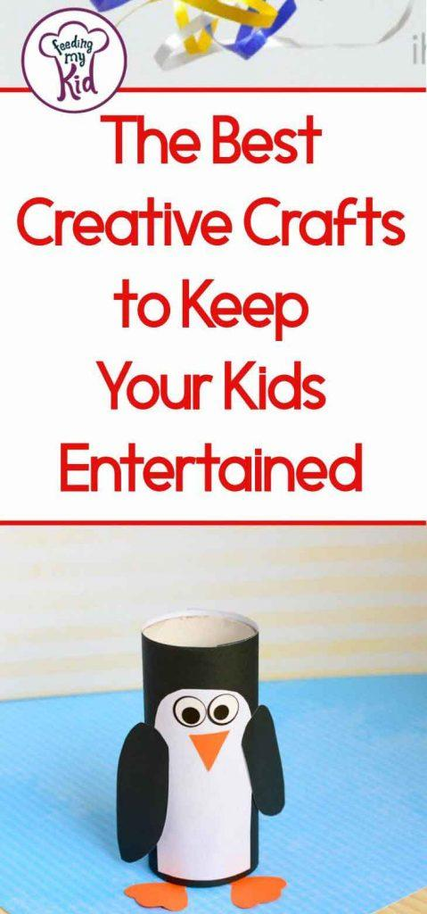 Keep your kids happy and entertained with these kids craft ideas. Use these for rainy days stuck at home, snow days, and school breaks.