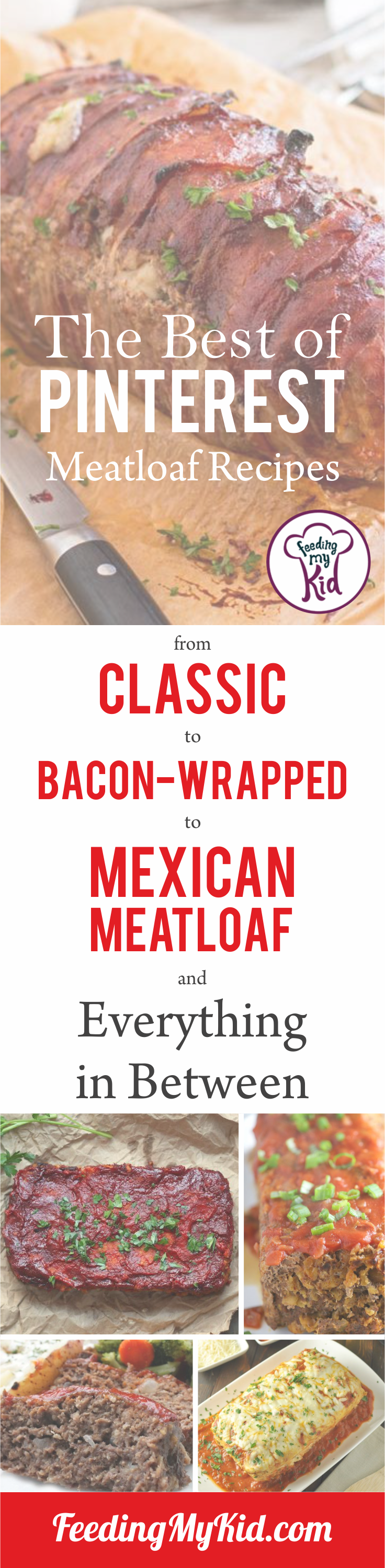 Make meatloaf for dinner tonight using the top meatloaf recipes on Pinterest. From classic to bacon-wrapped and everything in between!