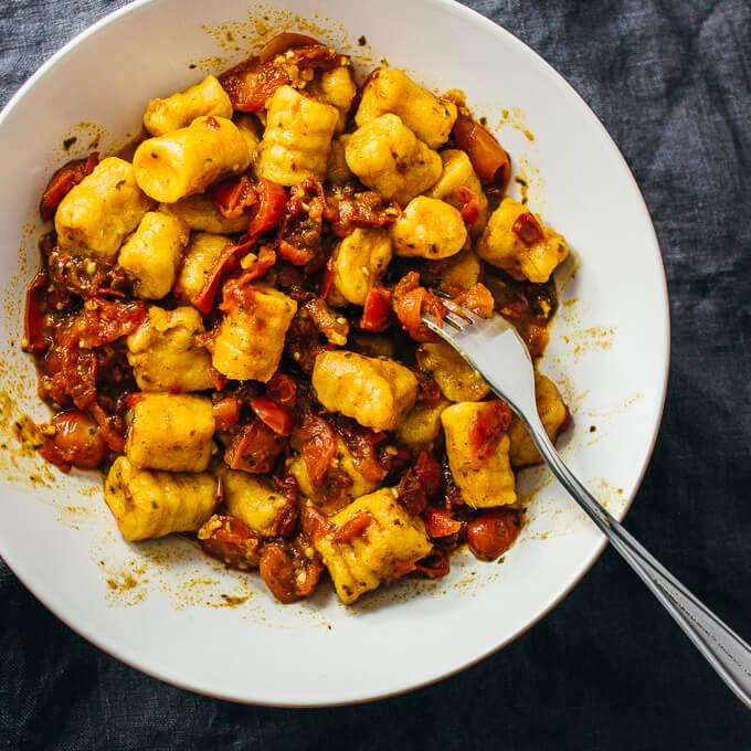 2-Ingredient Sweet Potato Gnocchi