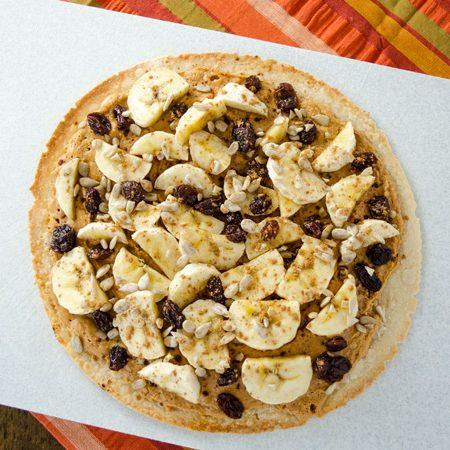 Breakfast Pizza: Peanut Butter Banana