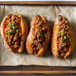Easy Paleo Chili Stuffed Sweet Potatoes