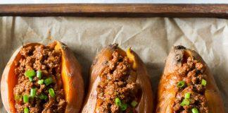Easy Paleo Chili Stuffed Sweet Potatoes. Sweet potatoes are the perfect vitamin-packed, delicious side for any dish. Try one of these sweet potato recipes and fall in love with the sweet potato!