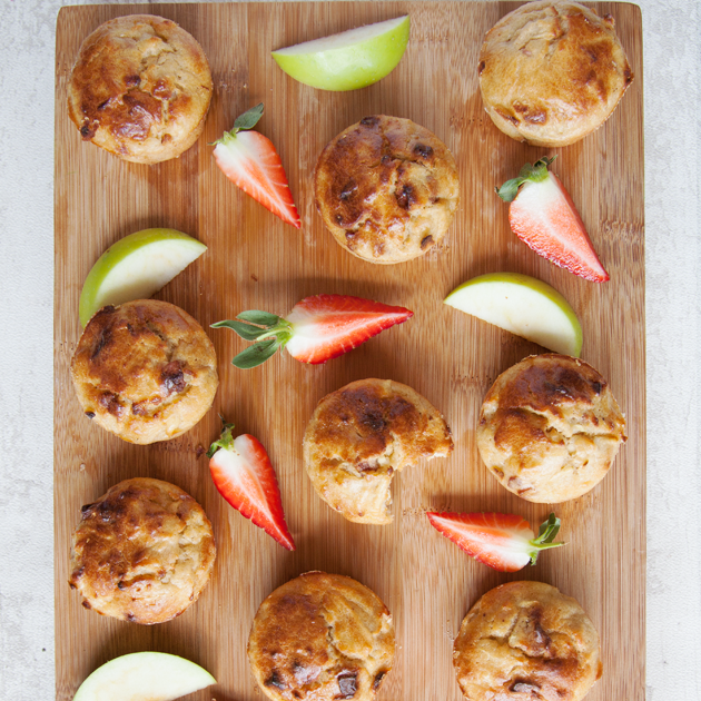 No Junk Apple And Strawberry Muffins
