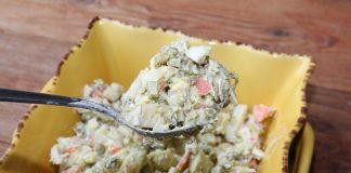 This is my version of the quintessential potato salad. This Russian potato salad is savory, a little sweet, and absolutely delicious.