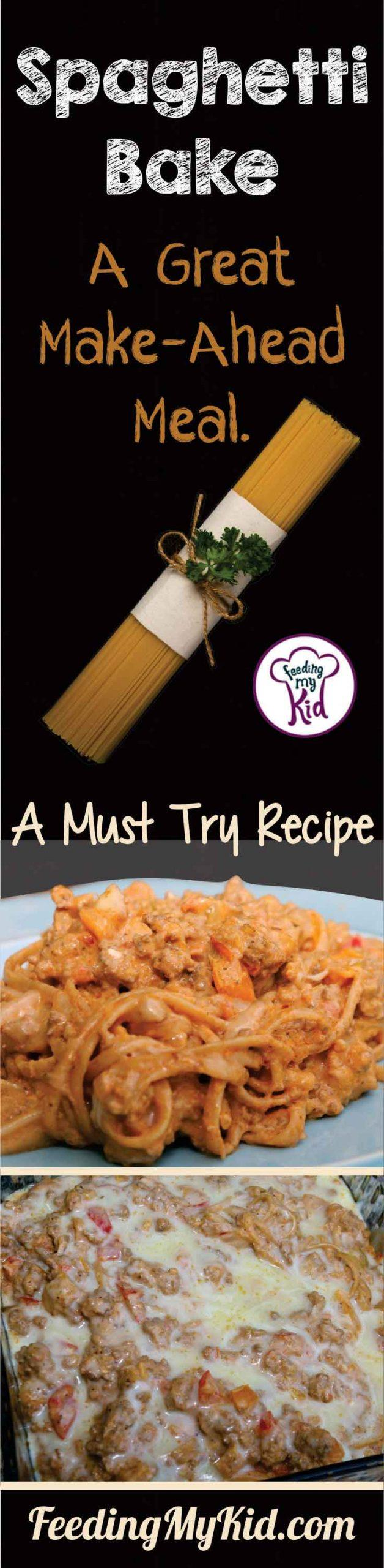 This is such an easy spaghetti recipe, and this recipe is absolutely delicious. This is a great Make Ahead Spaghetti Recipe.