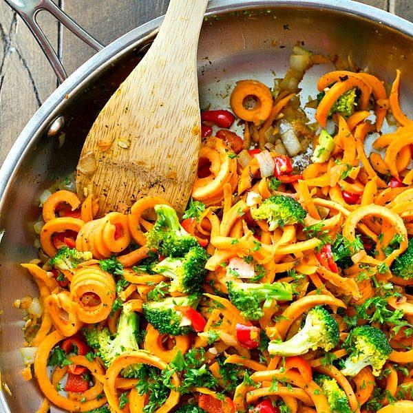 Vegetarian Sweet Potato Noodles Stir-Fry