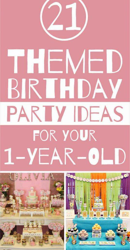 These Birthday Party Themes Are Perfect For Your New 1 Year Old