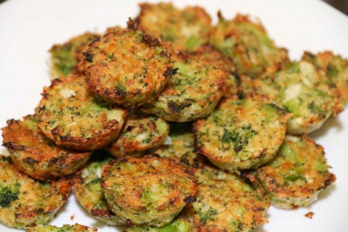 These broccoli bites are an easy and healthy finger food. Make them ahead of time for a grab-and-go snack. Your kids will love them!