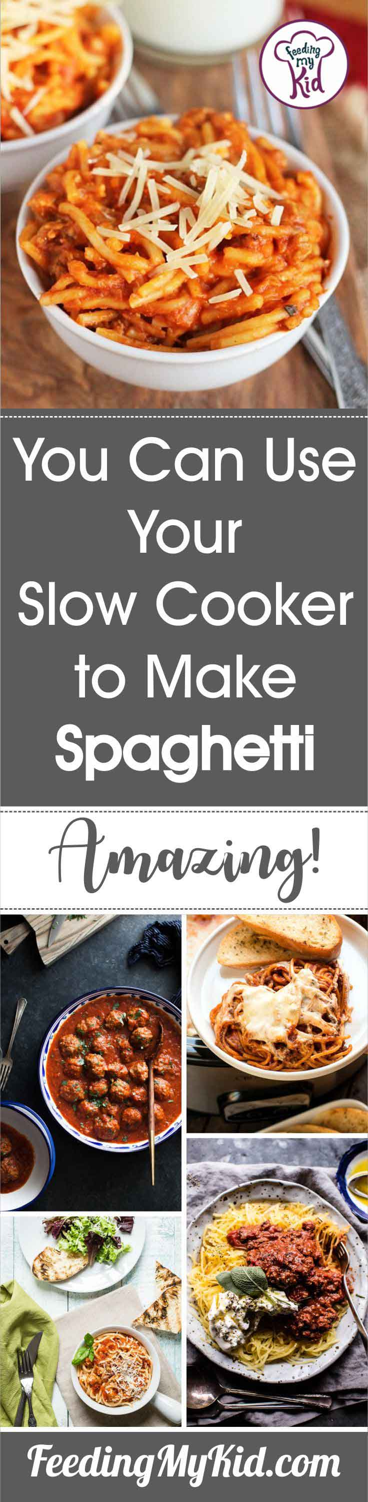 Did you know you can use your crock pot to make a spaghetti dinner? Amazing! These crock pot spaghetti recipes are perfect for weeknights.