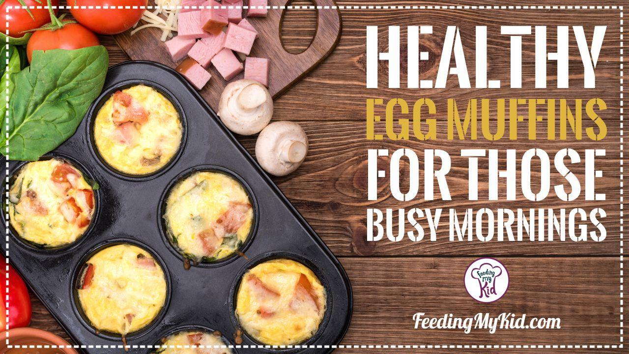 Healthy Egg Muffins For Those Busy Mornings. Make-Ahead Breakfast Recipe!