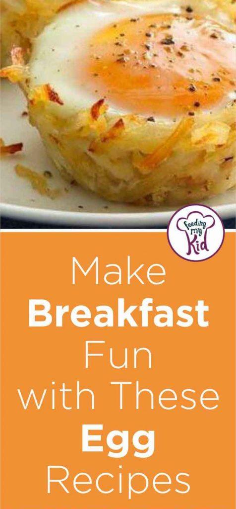If your kids are bored of plain scrambled or boiled eggs, check out these cool egg recipes for kids. They'll love to create these with you!
