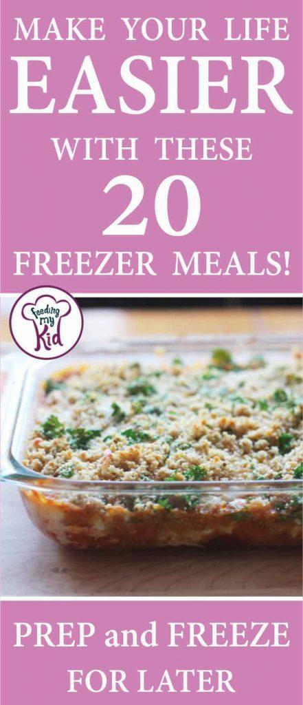 Freezer meals are perfect for bath cooking! Save a bunch of food for later and just defrost before dinner time. Super simple.