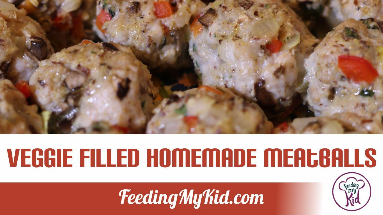 Veggie Filled Homemade Meatballs. Go Healthy with all These Added Veggies!