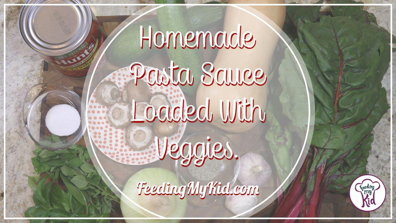 Homemade Pasta Sauce Loaded With Veggies. I mean loaded!