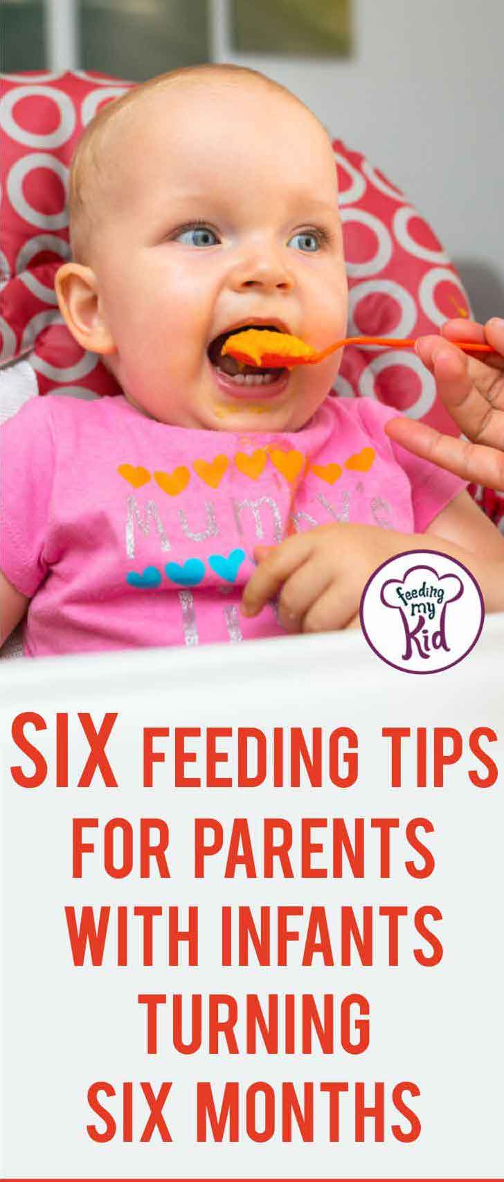 My goal today is to help simplify some of the major dietary changes that should occur when your child hits 6 months of age. Great infant care tips!