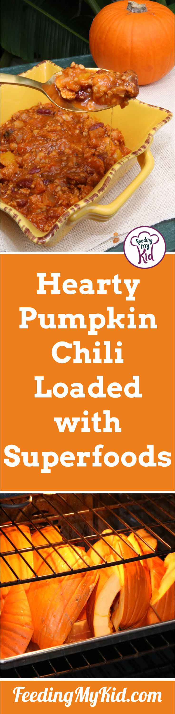 This pumpkin chili is filled with all the flavors of Fall! Using turkey and superfoods, this chili is as healthy as it is delicious. You have to try it!