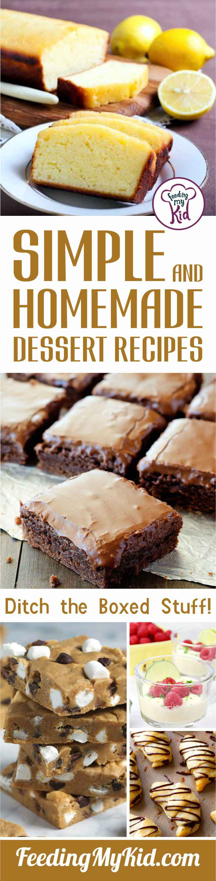 Desserts that take hours to make are bothersome and boxed desserts are filled with tons of preservatives. These homemade, simple dessert recipes are better!
