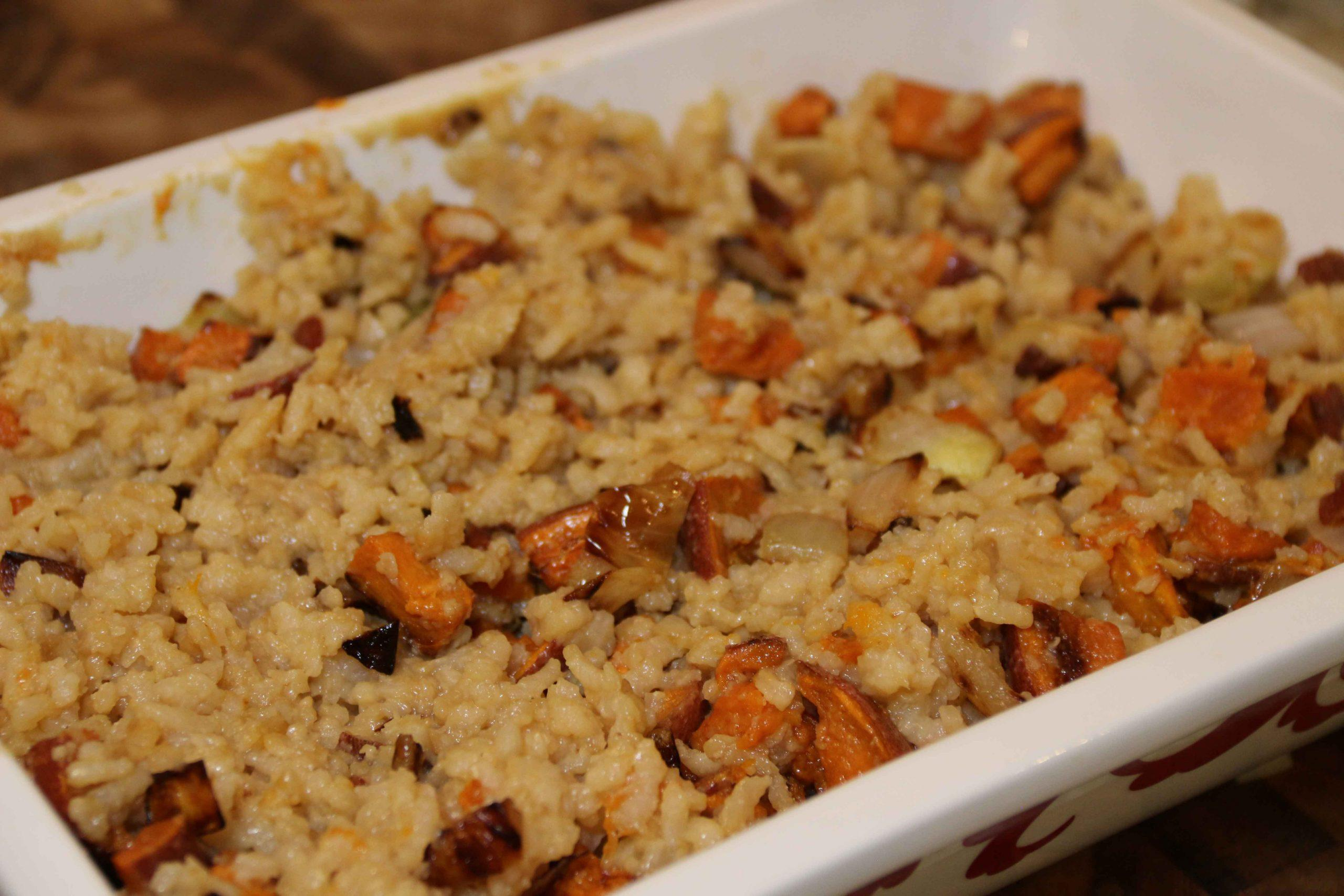I mixed the sweet flavor of a sweet potato and the creaminess of risotto to create this yummy sweet potato risotto. Perfect for Passover!