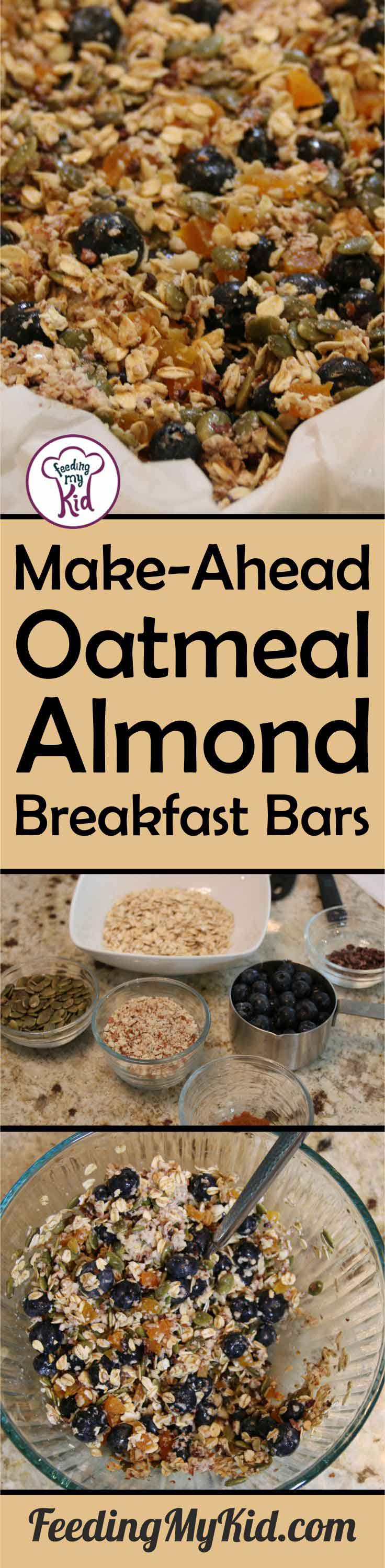 This breakfast bar recipe is perfect for those busy mornings. You can make this ahead of time and save for the whole week! Your kids will love it.