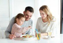 This may not always be possible, but it is advisable that you eat meals together with your picky eater as often as possible.