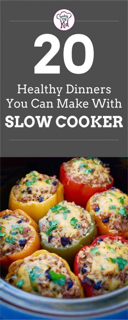 You can use your slow cooker to cook almost anything, including healthy meals! Check out this list of healthy slow cooker recipes.