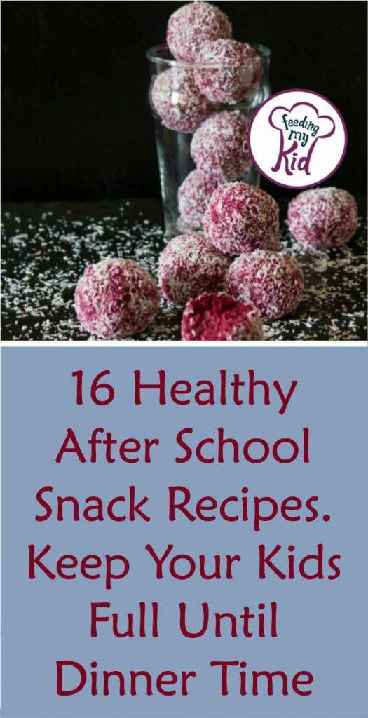 These healthy snack recipes are perfect for after school. Ditch the store-bought stuff and make these healthy snacks, right at home!