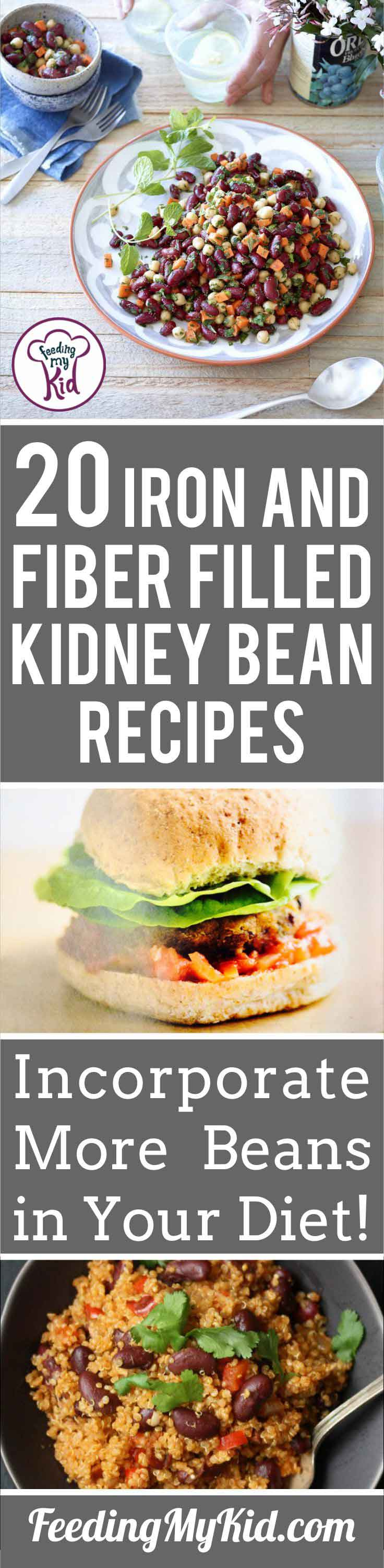 Trying to get more beans in your diet? These kidney bean recipes are perfect for that! Kidney beans are full of protein, fiber, and iron. A great add-in!