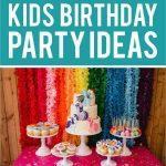 kids birthday party ideas short