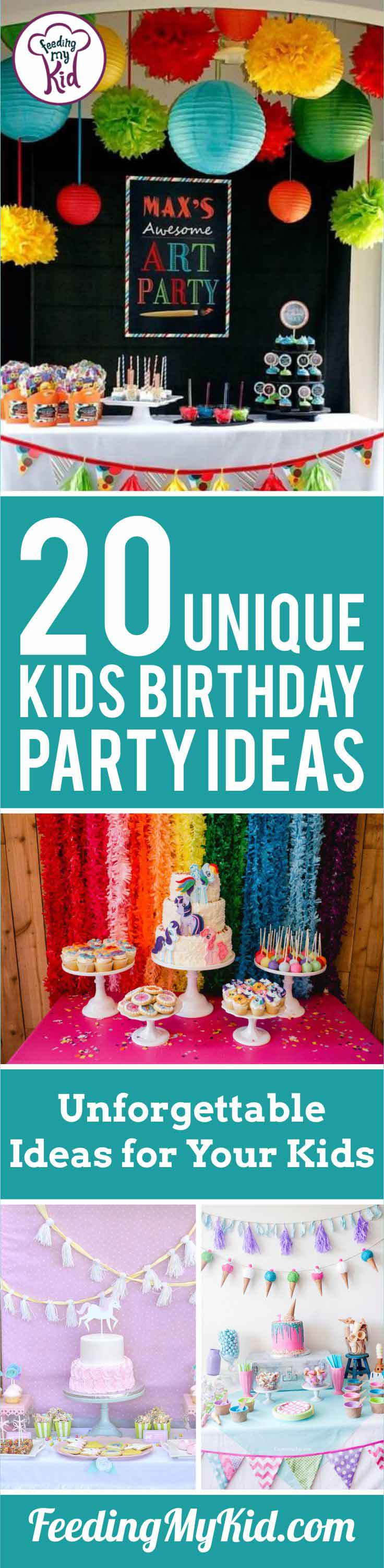 These kids birthday party ideas are perfect for the DIY lovers out there! Create birthday memories your kids will never forget.