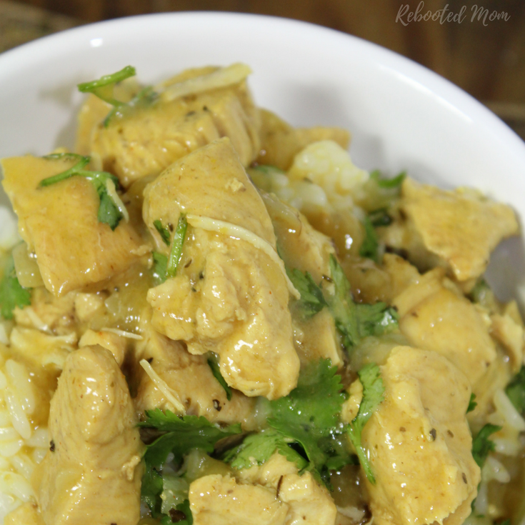 Instant Pot Basil Chicken Coconut Curry