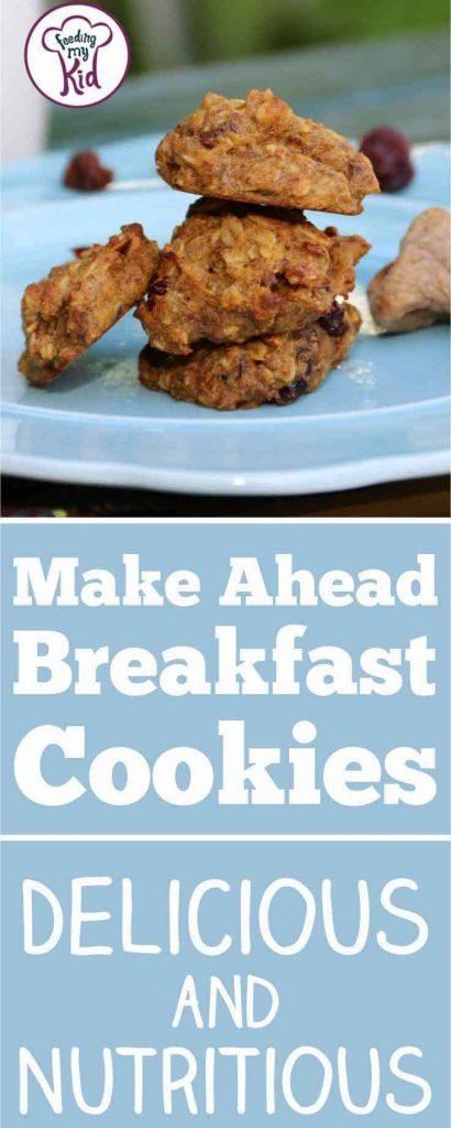 Breakfast cookies are an easy make-ahead breakfast for every day of the week. Check out these superfood filled cookies with pumpkin and flaxseed!