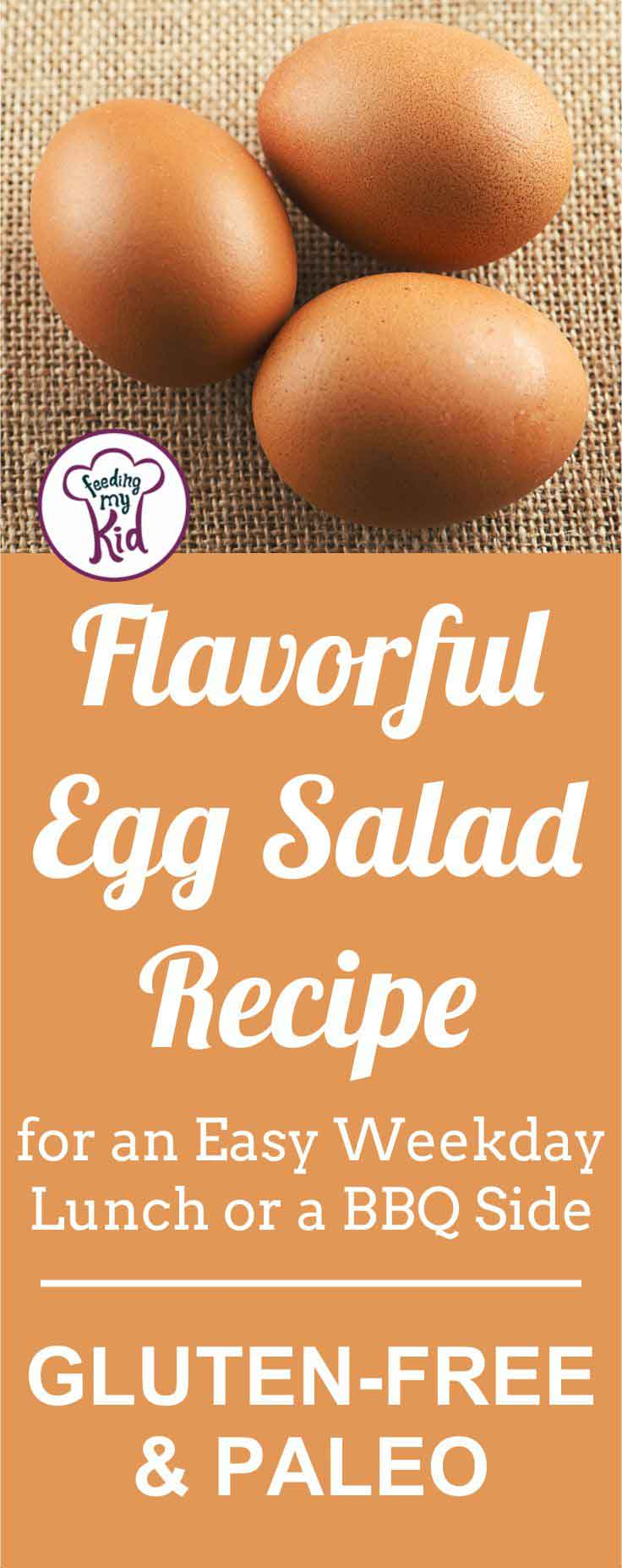 A super easy and flavorful egg salad recipe that goes with anything! Serve it as a side to your BBQ or as a yummy sandwich for lunch.