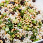 This Israeli couscous salad has the mild flavor of scallions and the nuttiness if the pine nuts. Try this super simple side dish any night of the week.