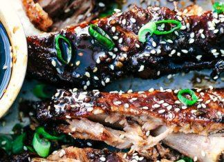 Slow Cooker Sticky Asian Ribs With Sticky Sauce