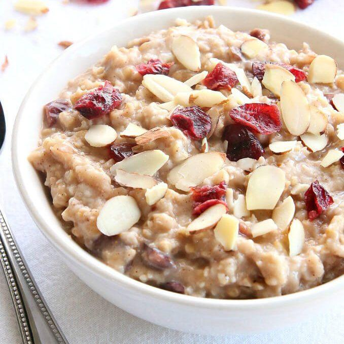 Slow Cooker Cranberry Orange Steel Cut Oatmeal