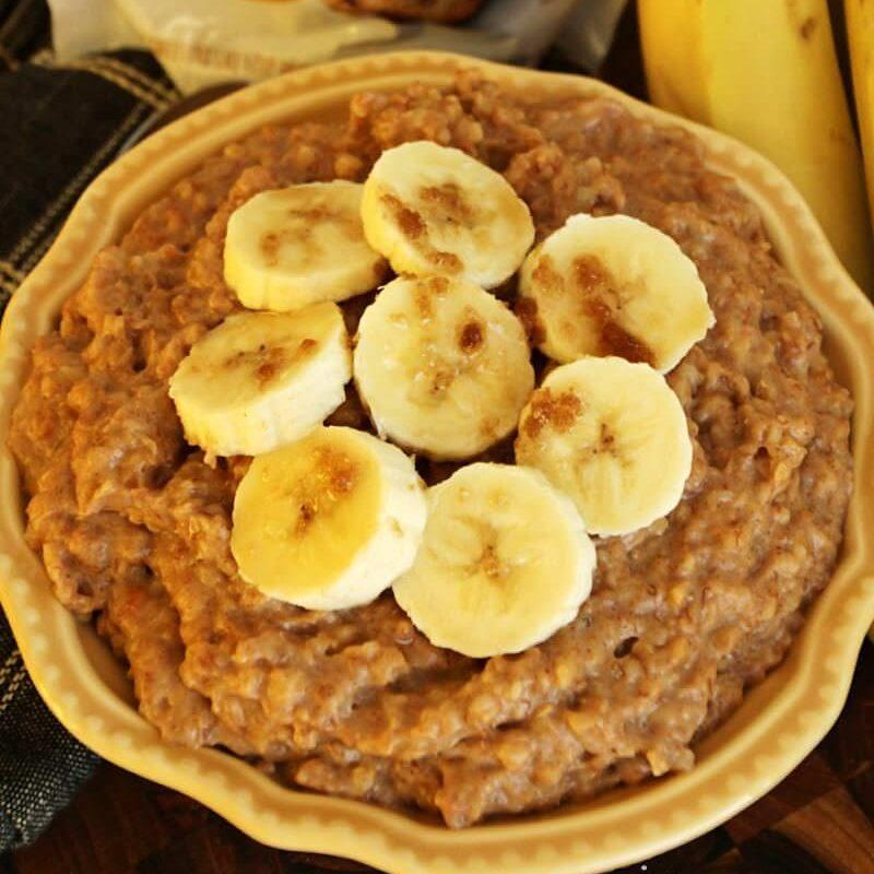 Crock Pot Peanut Butter Banana Oatmeal