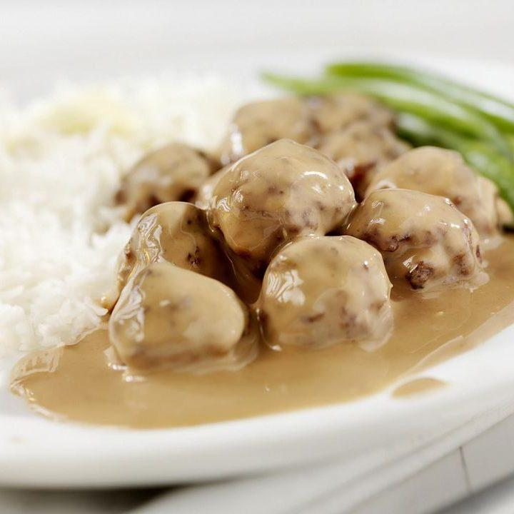 Crockpot Meatballs and Gravy