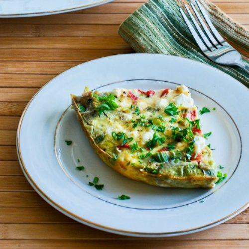 Slow Cooker Frittata with Artichoke Hearts, Roasted Red Pepper and Feta