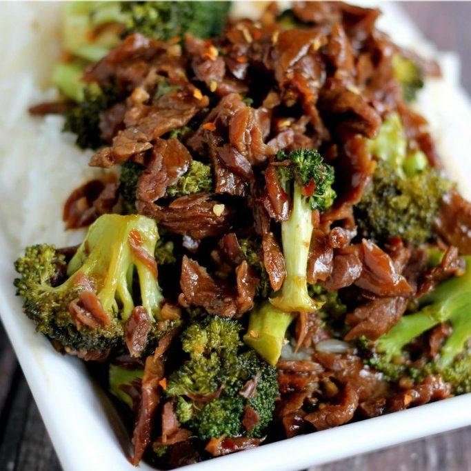 Slow Cooker Spicy Beef and Broccoli
