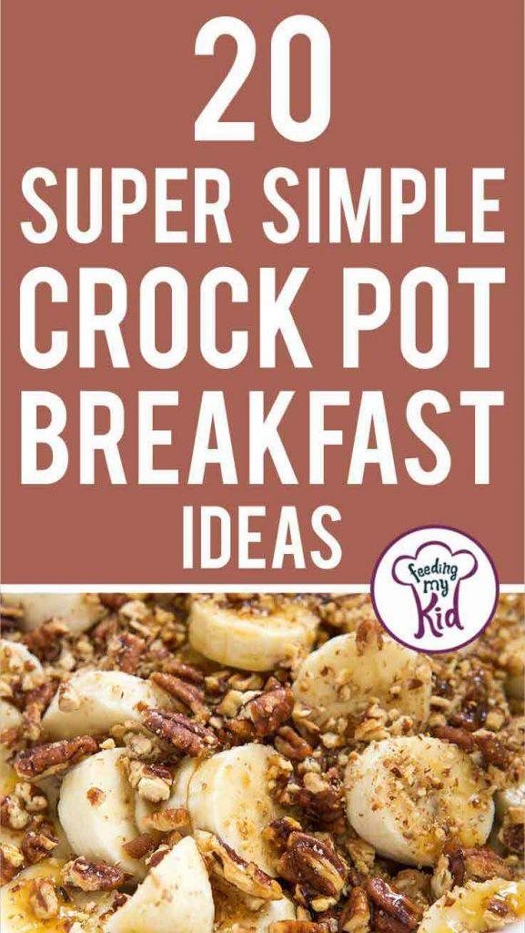 Crock pots are so versatile. When feeding a large crowd, these crock pot breakfast ideas come in handy. Prep the night before and ready by morning!