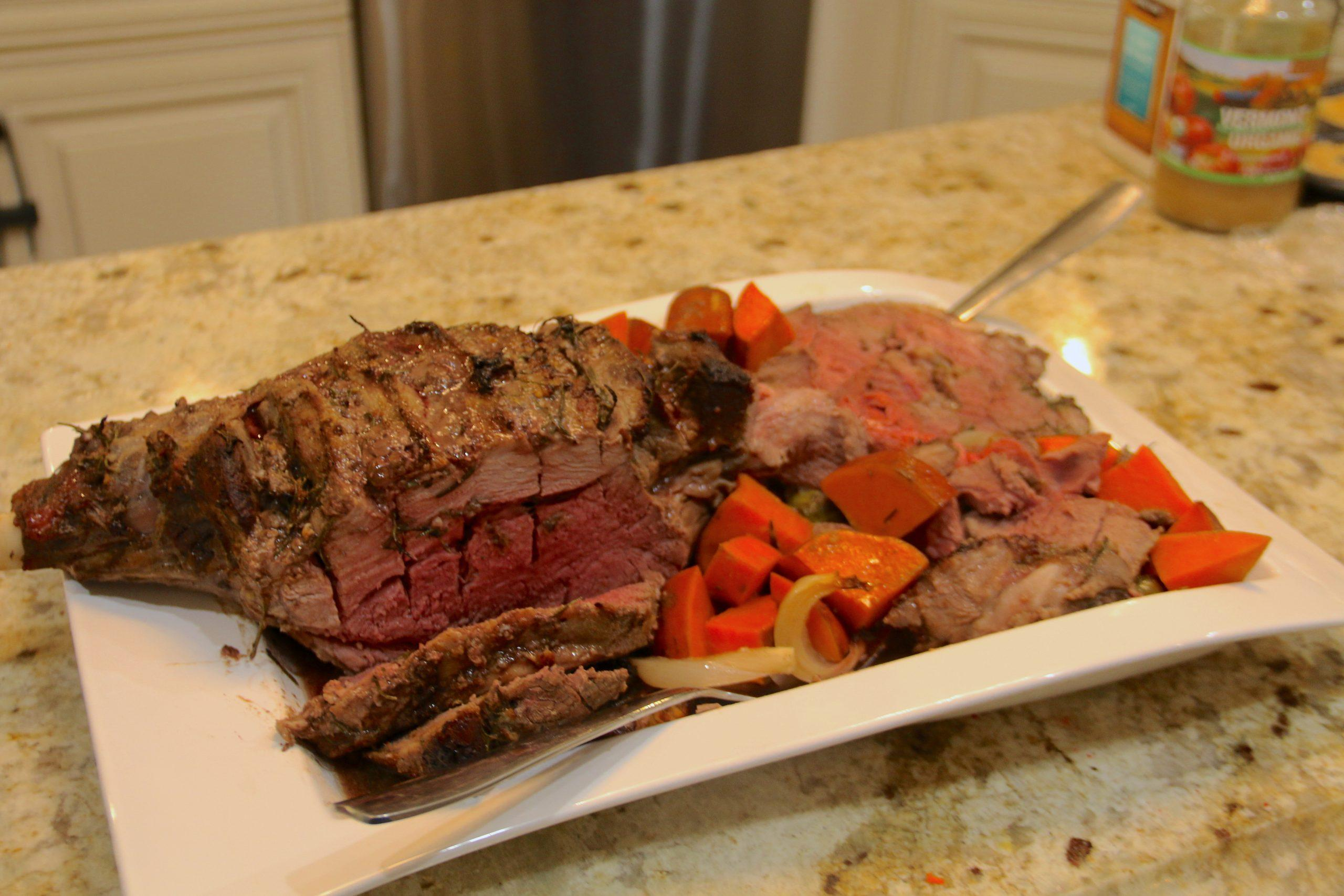Garlic and rosemary come together for an amazing flavor combination in this roast leg of lamb recipe. Perfect for family dinner or celebrating the holidays.