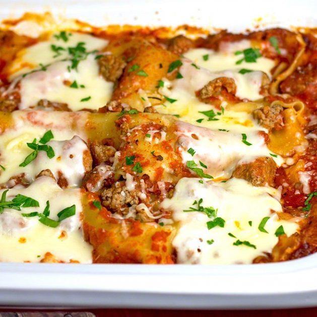 Slow Cooker Hot Five-Cheese Lasagna