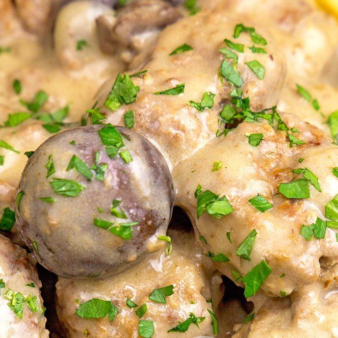 slow cooker meatball stroganoff