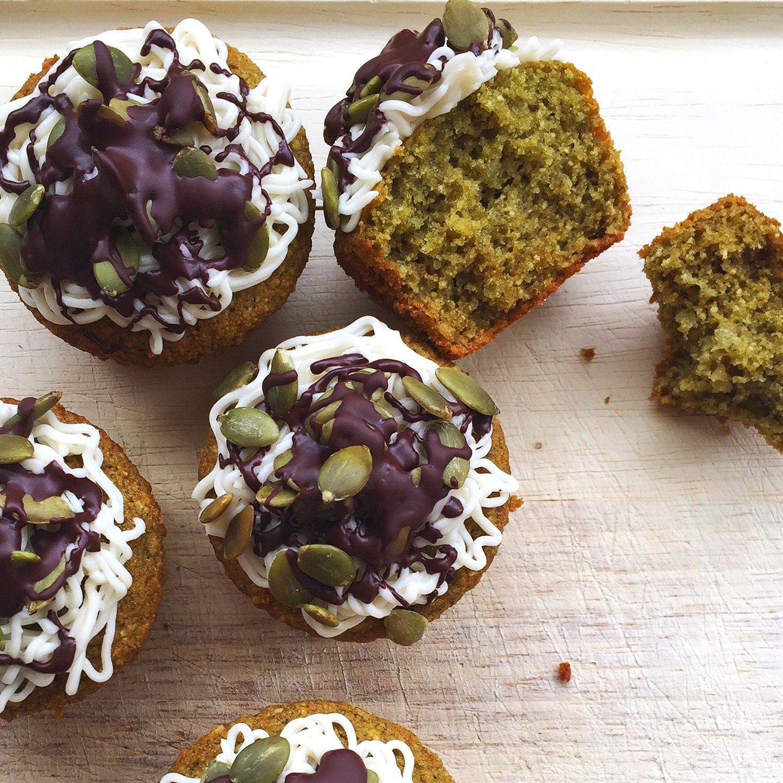 Pumpkin Seed Moringa Cupcakes